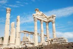 De tempel van Trajan in Pergamon Turkije Royalty-vrije Stock Afbeelding