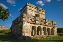 De tempel van Tulum Stock Foto