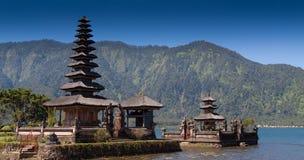 De Tempel van Ulundanau, Bali Indonesië Stock Foto