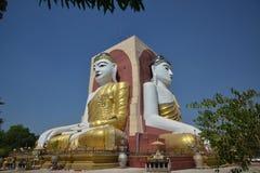 De tempel van vier gezichtenmonniken in Myanmar Royalty-vrije Stock Foto's