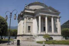De Tempel van Volta in Como, Meer Como Stock Fotografie