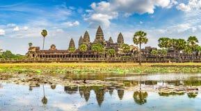 De Tempel van Wat van Angkor in Kambodja royalty-vrije stock afbeelding