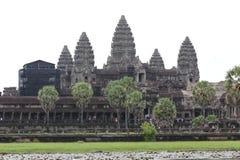 De tempel van Wat van Angkor, Siem oogst, Kambodja Stock Fotografie