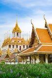De tempel van Wat ratchanatdaram in Bangkok Royalty-vrije Stock Fotografie