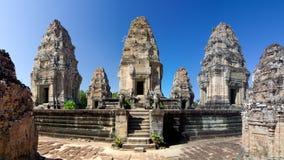 De tempel van Wat van Angkor Stock Foto's