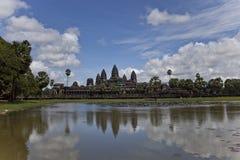 De tempel van Wat van Angkor, Kambodja Royalty-vrije Stock Afbeeldingen
