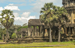 De Tempel van Wat van Angkor in Kambodja Royalty-vrije Stock Foto's