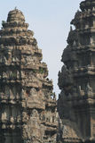 De tempel van Wat van Angkor toneel Stock Afbeelding