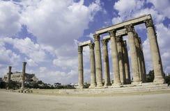 De tempel van Zeus-ruïne Stock Afbeeldingen