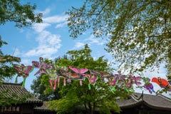 De Tempel van Zhenjiangjiaoshan Dinghui van de vlieger Stock Foto's