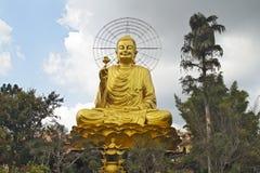 De Tempel van Zitting Boedha in Dalat, Vietnam stock afbeeldingen