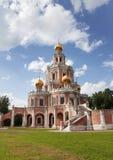 Rusland. Moskou. De kerk van de Interventie van de Moeder van God Stock Foto