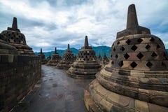 De tempel Yogyakarta van Borobudur. Java, Indonesië Stock Afbeeldingen