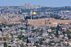 De tempel zet in Jeruzalem - Israël op Stock Afbeeldingen