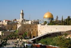 De tempel zet in Jeruzalem op Stock Foto's