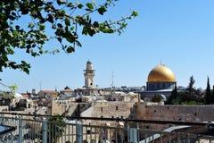 De tempel zet Jeruzalem op Stock Afbeeldingen