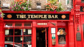 De tempelbar in Dublin Ireland royalty-vrije stock fotografie