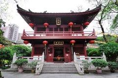 De tempelbouw bij de Guangxiao-complexe Tempel, Guangzhou, Kin Stock Fotografie