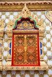 De tempeldeur van Thailand Royalty-vrije Stock Fotografie