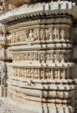 De tempelfragment van het hindoeïsme ranakpur Stock Afbeeldingen