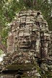 De tempelgezicht van Bayon Stock Fotografie