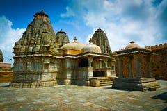 De tempelheiligdommen van het Kumbhalgarhfort royalty-vrije stock foto