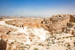 De tempelkasteel van Herodion in Judea woestijn, Israël stock foto