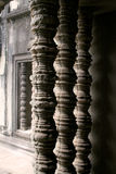 De tempelkolommen van Wat van Angkor stock foto