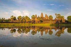 De tempelpagode van Angkorwat Stock Fotografie