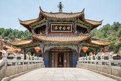 De Tempelpanorama van Yuantongkunming, de hoofdstad van Kunming van Yunnan royalty-vrije stock fotografie
