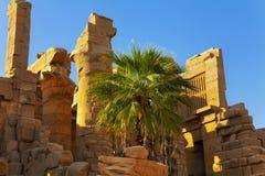 De tempelruïnes van Karnak Stock Foto's