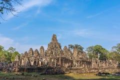 De tempelruïnes van Wat van Angkor Stock Afbeeldingen