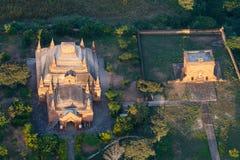 De Tempels en Pagoden van Bagan Pagan hierboven worden de gezien van, Mandalay dat, Myanmar stock afbeelding