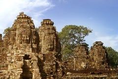 De tempels van Angkor wat in Kambodja Stock Fotografie