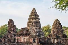 De tempels van de Angkorstijl en oude Khmer ruïnes in Phimai, reisbestemming in Oost-Thailand Stock Fotografie