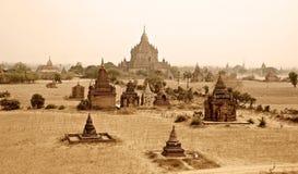 De tempels van Bagan Stock Fotografie