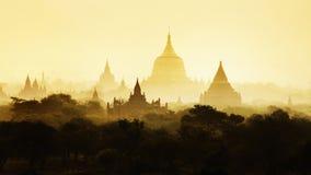De Tempels van Bagan, Mandalay, Myanmar, Birma royalty-vrije stock foto's