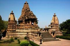De Tempels van Khajuraho Stock Afbeeldingen