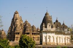 De Tempels van Khajuraho Stock Afbeelding