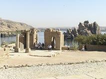De Tempels van Philae - Egypte Stock Afbeeldingen