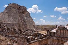 De tempels van Uxmal in Mexico stock foto's
