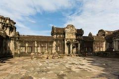De tempelwerf van Angkorwat Stock Foto