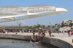 De temperaturen in Rio de Janeiro blijven boven 40 graden Royalty-vrije Stock Foto's