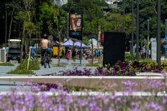 De temperaturen in Rio de Janeiro blijven boven 40 graden Stock Fotografie