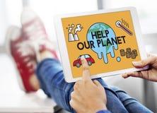 De temperatuur bewaart van het de Planeetmilieu van de Aardeverontreiniging het Klimaat Chan stock fotografie