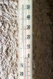 De temperatuur op thermometer 30 Royalty-vrije Stock Foto's