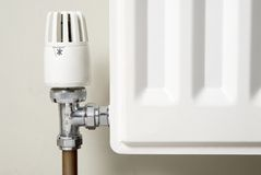 De temperatuurklep van de radiator Royalty-vrije Stock Afbeelding