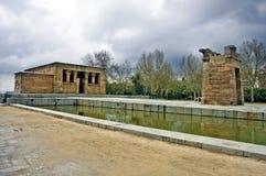 de templo Debod Madrid Zdjęcie Stock
