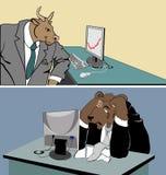 De tendens van de stier Stock Afbeelding