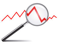 De tendens van de verkoop Stock Fotografie